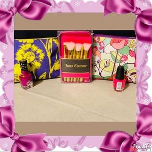 New Juicy Couture 6 Pc Cosmetic Brush Set